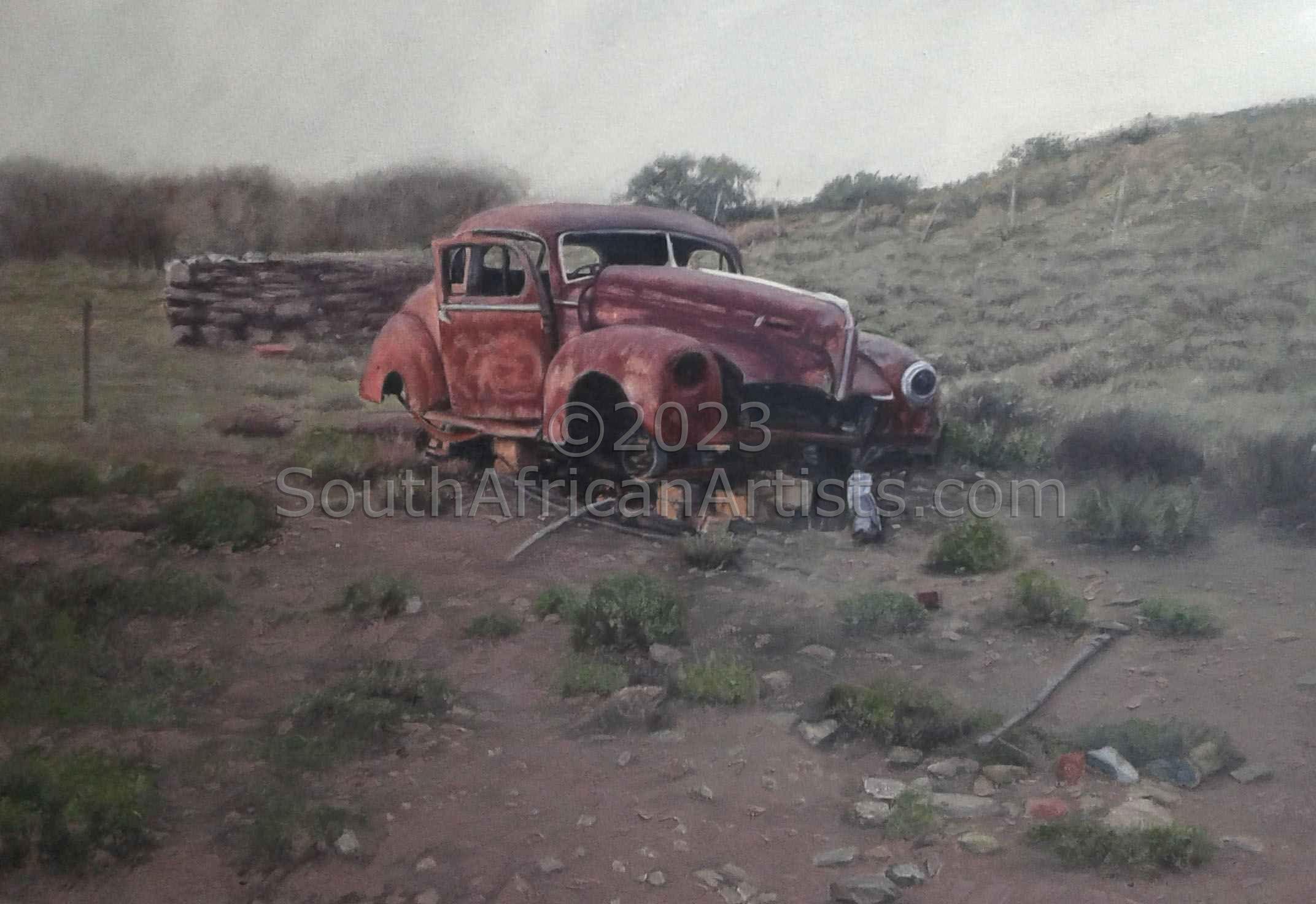 A) Rustic Old Motorcar Faan Se Chev