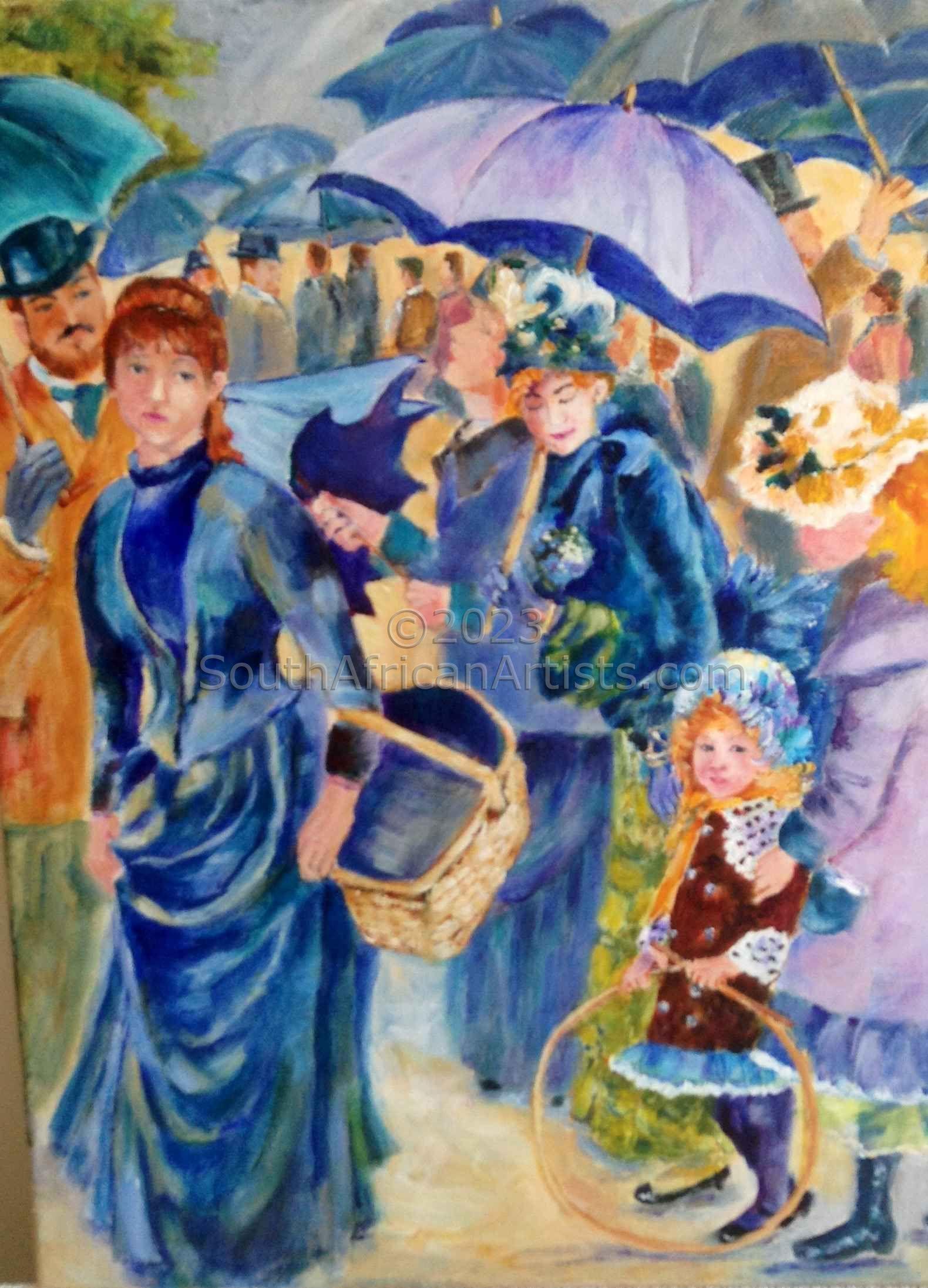 Umbrellas, After Renoir