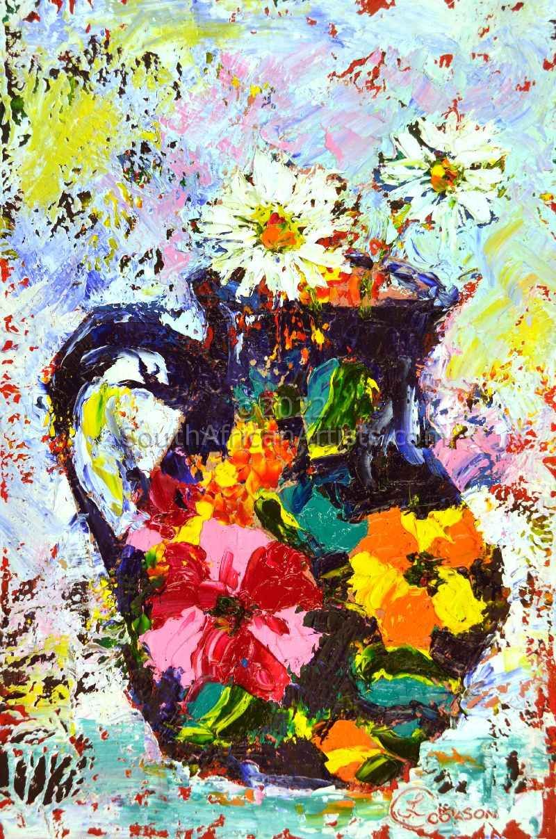 Daisies in a Portuguese Jug
