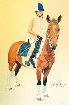 girl on pony