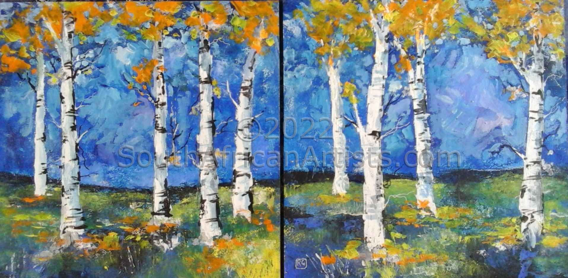 Trees in Autumn, Diptych