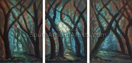 Moonlit Woods (Set of three)