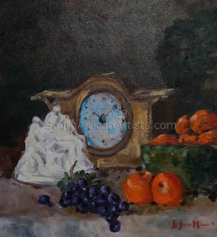 Pieta, Fruit and Clock