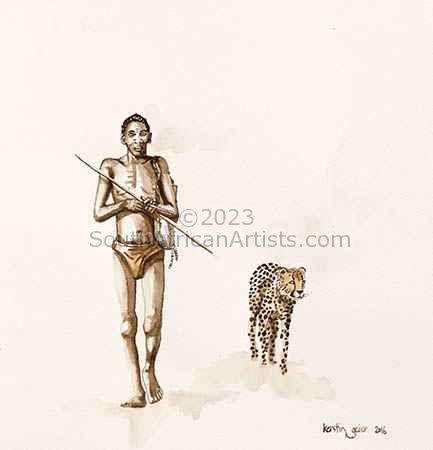 Bushman Hunter and Cheetah