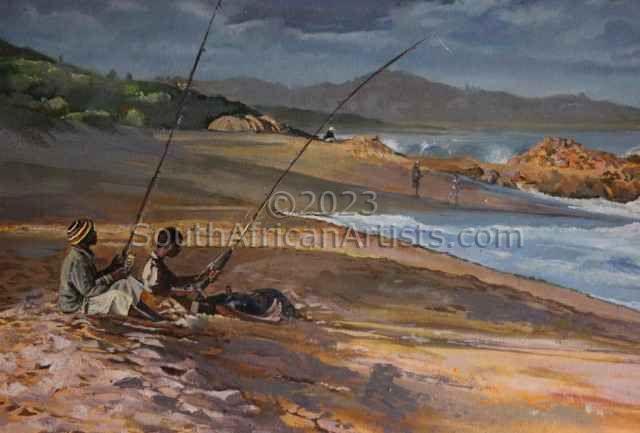 Fishermen On Hibberdene Beach