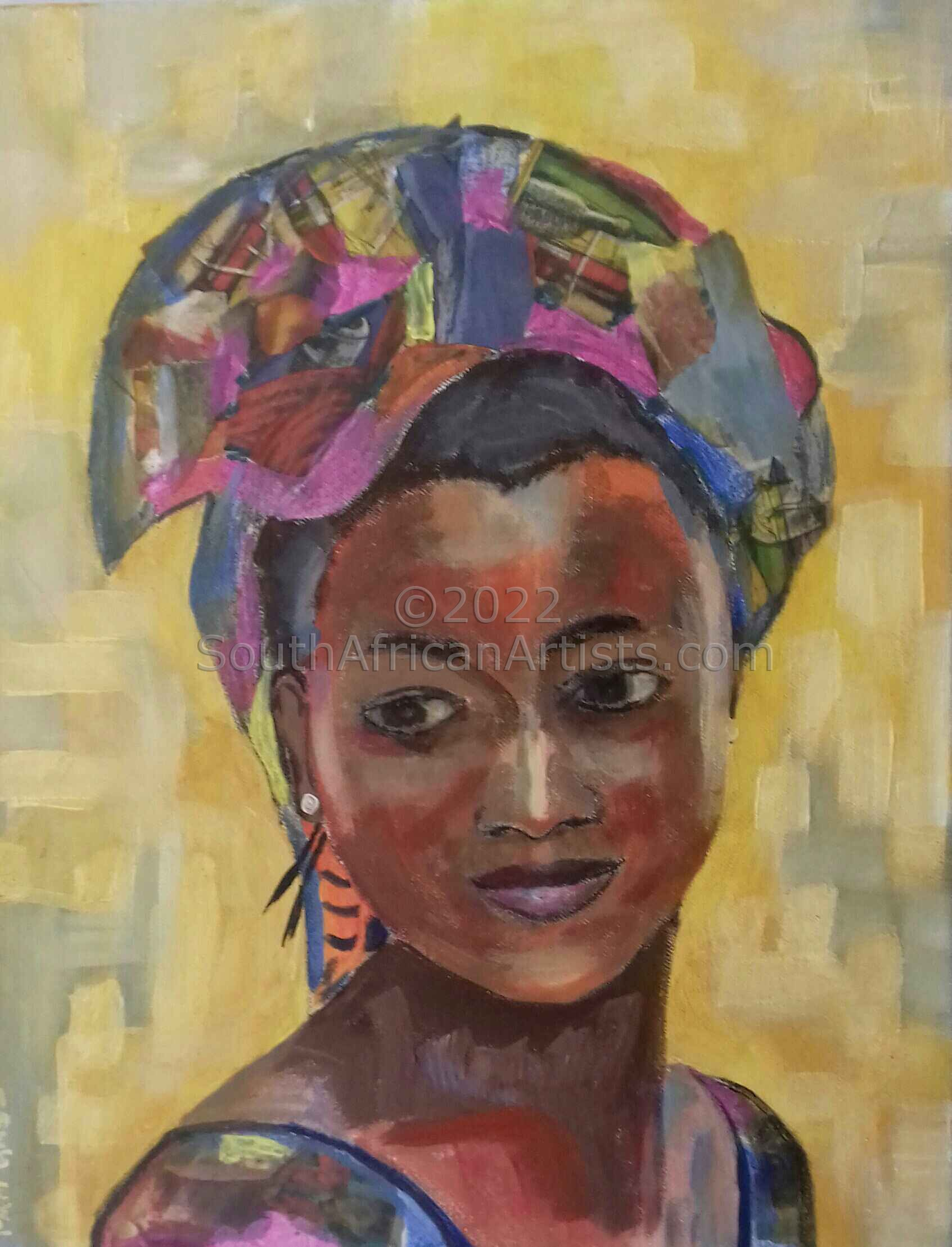 African Lady with Scarf