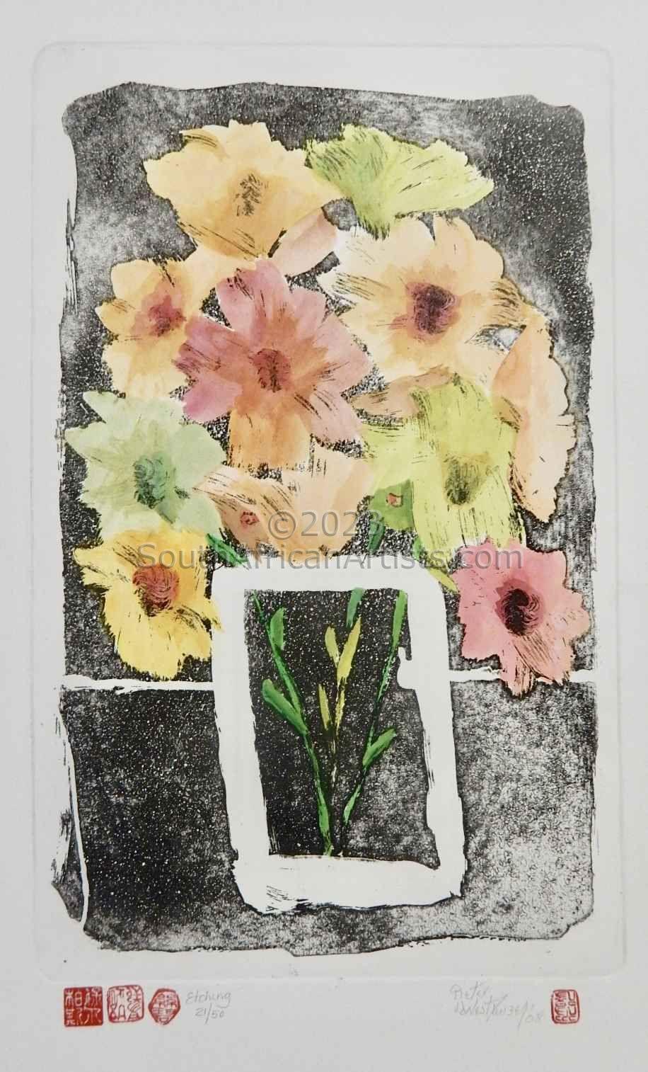 Flower I Square (in colour)