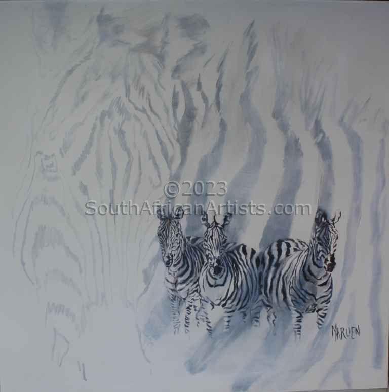 Zebras with Shadow