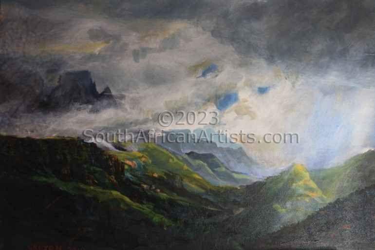 Cathkin Peak, Drakensberg View from Fernwood