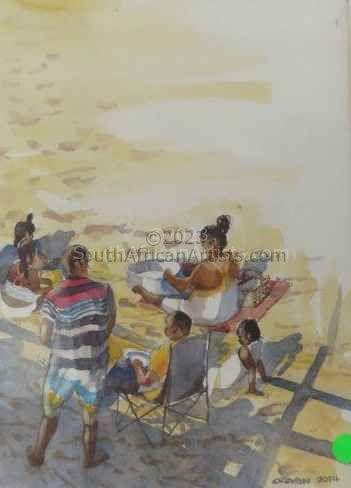 Durban Family Beach Scene