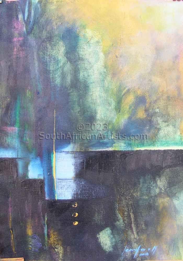Silver Satin Abstract