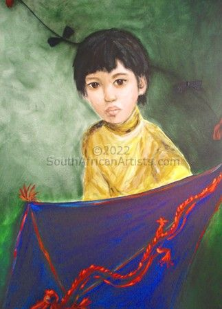 Chinese Boy With Kite