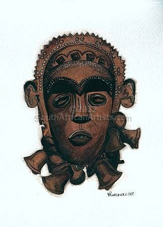 African mask 4 (set of 2)