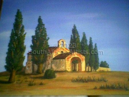 Tuscan Chapel at Sunset