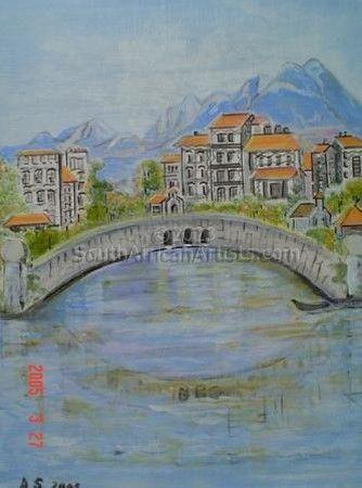 Italian Alps and Bridge
