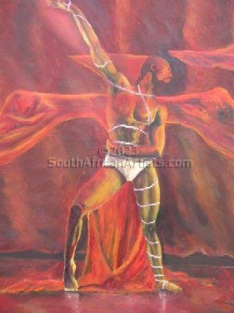 Dance Scapes: Fire Dancer