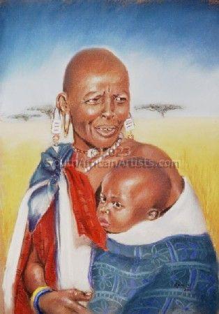 Maasai Woman with baby