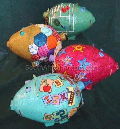 Papermache piggybanks