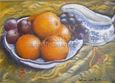 Oranges in Delft Bowl