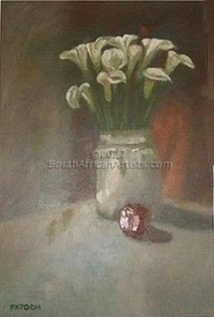 Arrum Lilies and an apple
