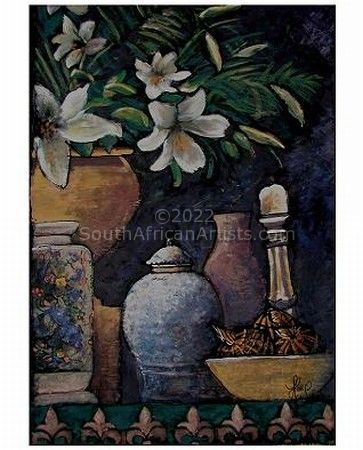 White Lilies in Urn