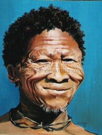 Smiling Bushman