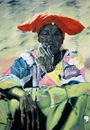 Herero Woman and Pipe