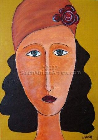 Woman with a hat 4