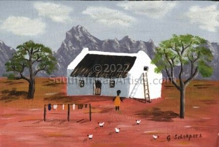 Cottage on farm