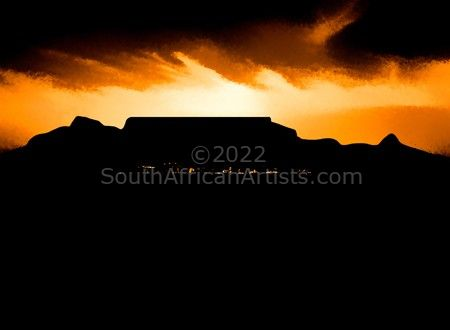 Table Mountain Silhouette