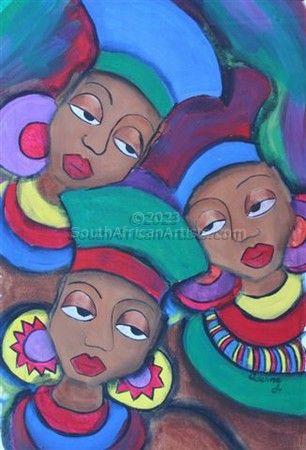 1b Zulu Girls' Head Gear