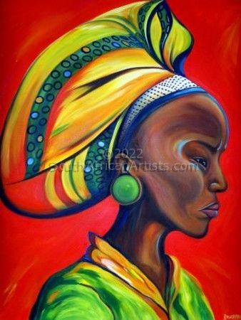 zulu woman with red