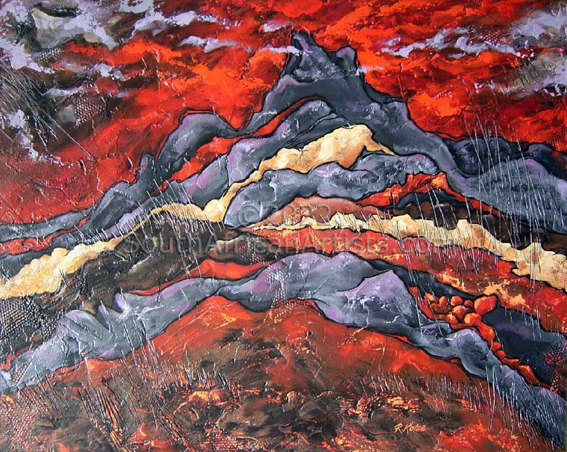 Red Horizon - Dramatic Landscape