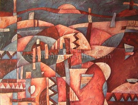 Village 2 Abstract Painting