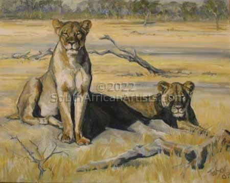 Lionesses Keeping Watchful Eye