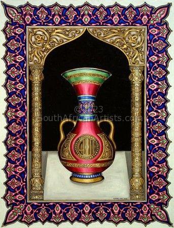 Arabesque Style Vase