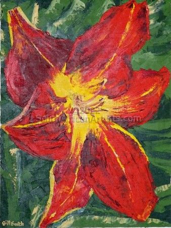 Study of a flower