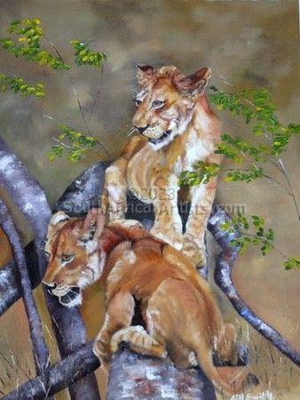Lion Cubs - Mischief
