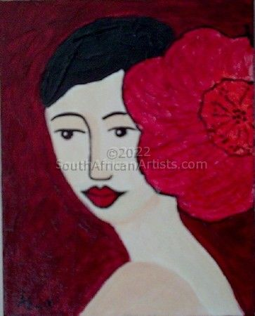 Lady with flower I