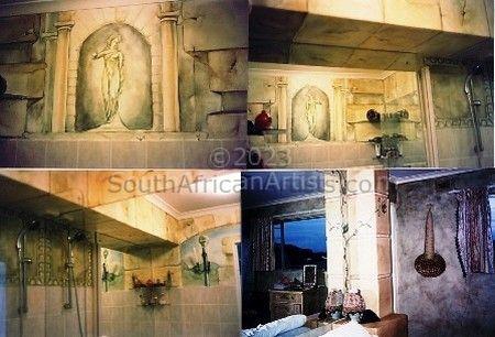 murals and stonework