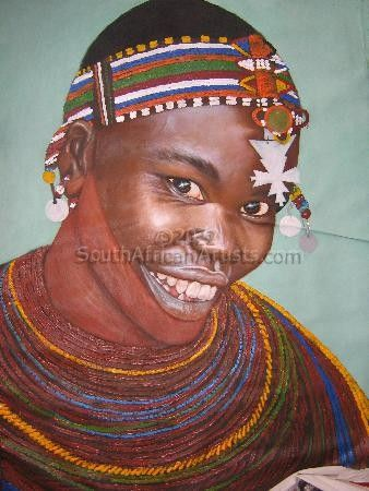 Smiling Maasai Woman