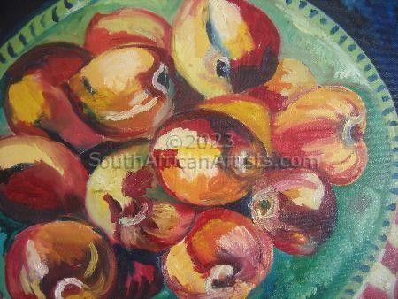 Still Life with Nectarines