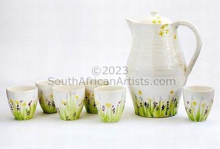 Meadow (jug and 6 tumblers)