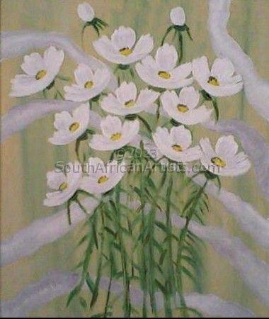 Kosmos Flowers White 1