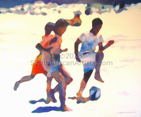 Soccer, Muizenberg Beach, W Cape