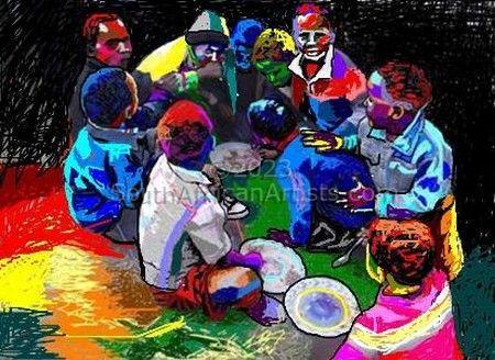 Qunu Boys Taking Their Share