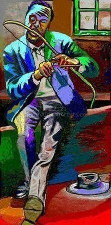 Venda musician playing umrhubhe
