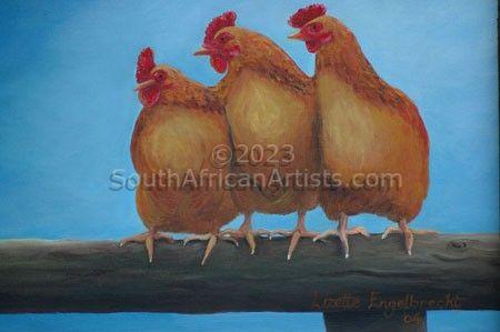 Chicken Sitting Together