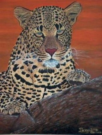 Mother African Leopard