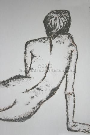 Nude in Burnt Umber